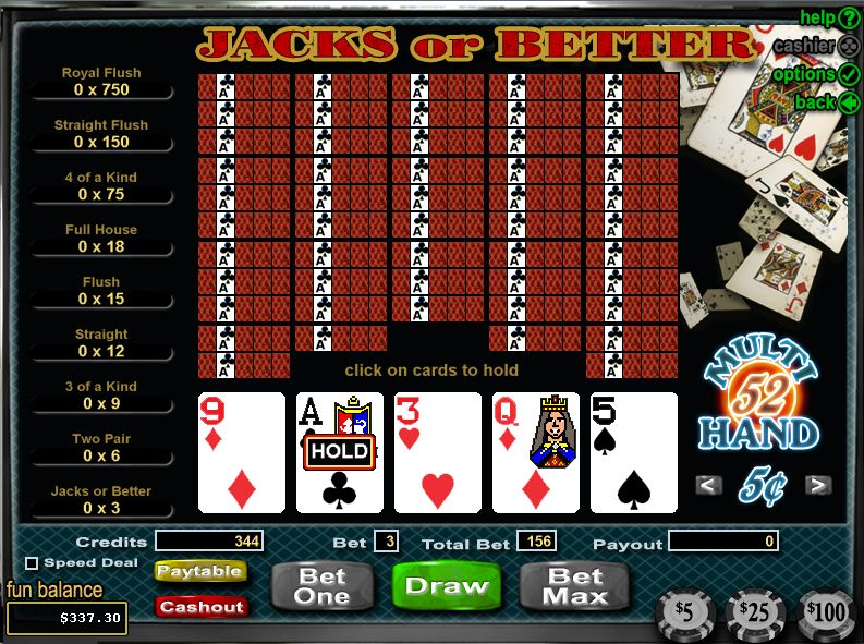 jeux de poker video